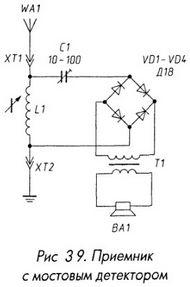Приемник с мостовыим детектором
