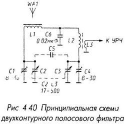 Двухконтурный полосовой фильтр