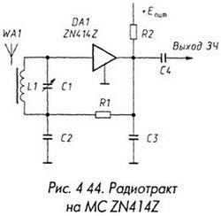 Радиотракт на МС ZN414Z