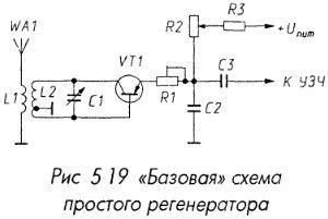 Базовая схема простого регенератора